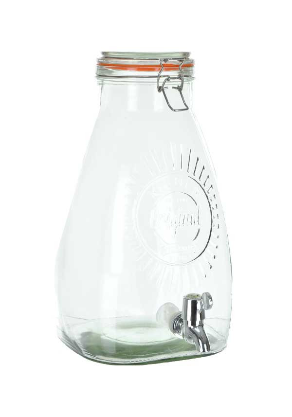 Kilner 8ltr Clip Top Square Drinks Dispenser