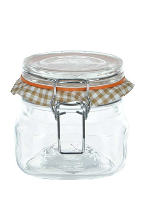 Kilner Square 0.5ltr Clip Top Glass Storage Jar