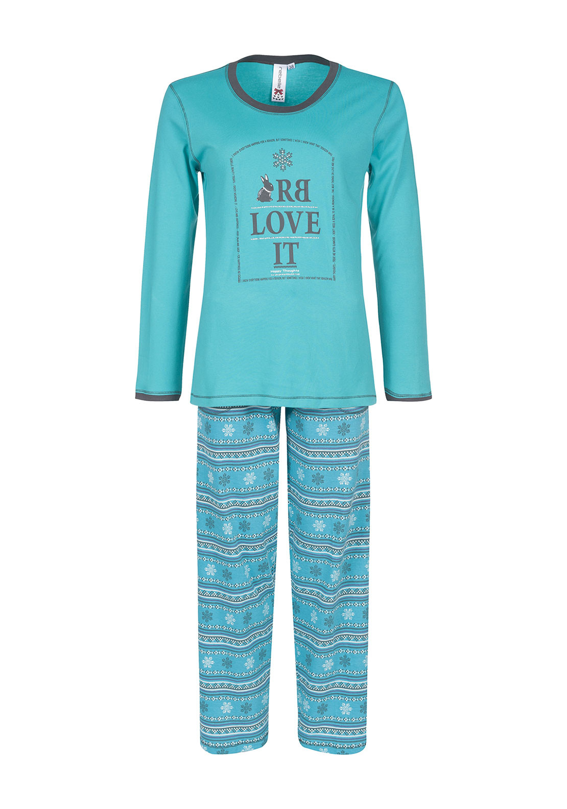 Rebelle Printed Pyjama Set, Green