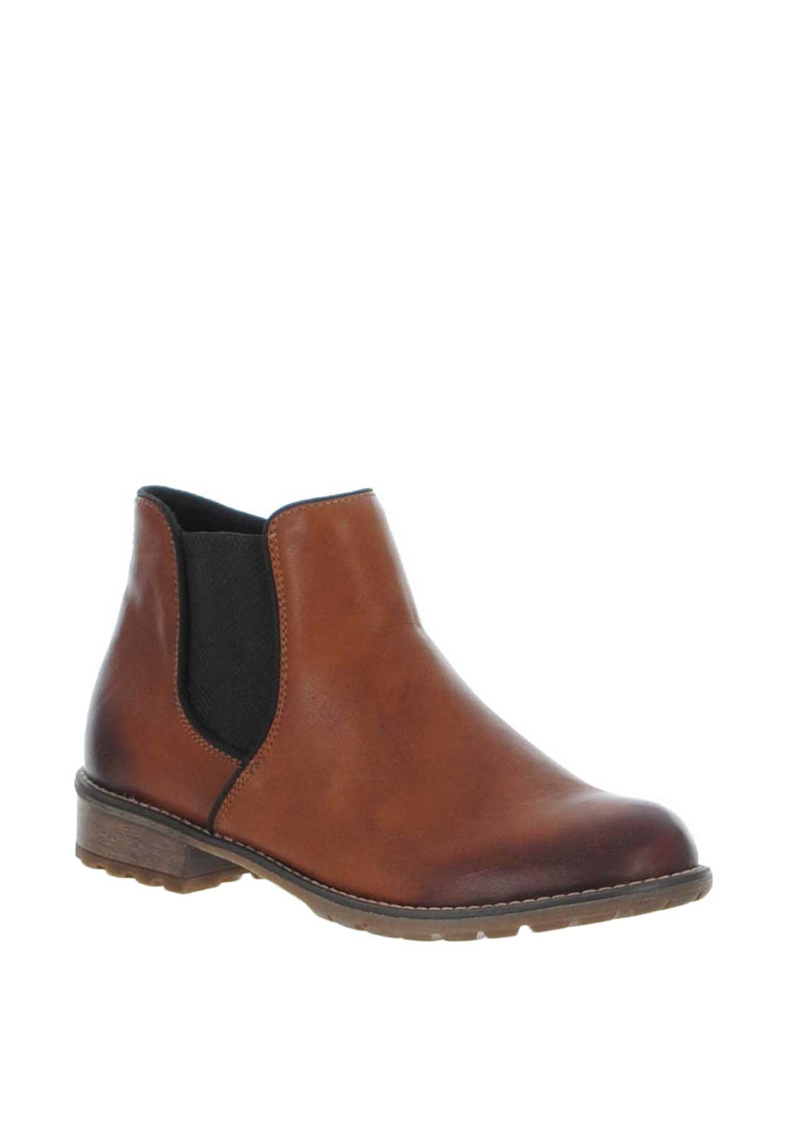b2a174f6 Remonte Leather Chelsea Boots, Tan   McElhinneys