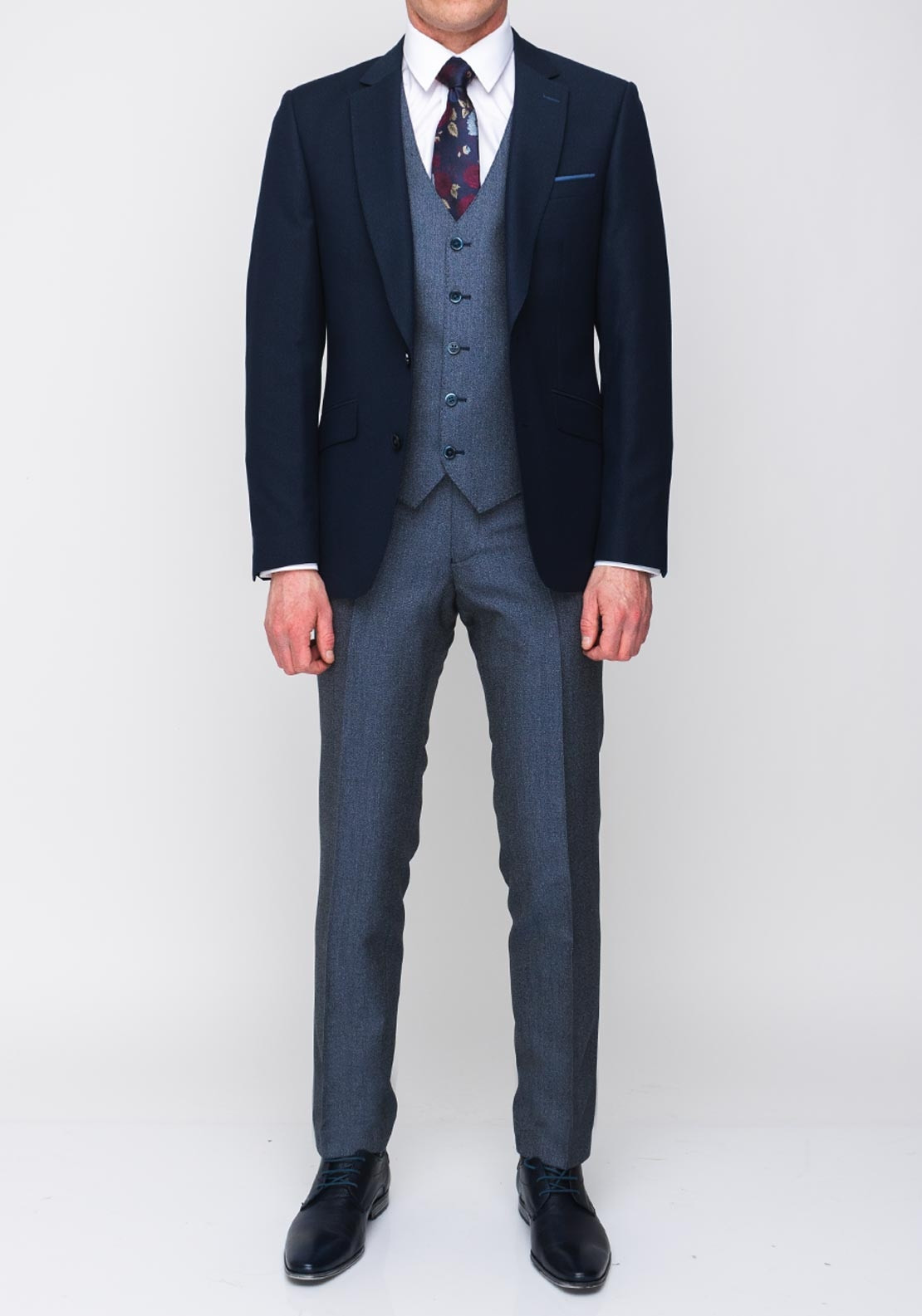 17bd1d6bc8d9 Remus Uomo Palucci Tapered Fit Three Piece Suit, Navy | McElhinneys