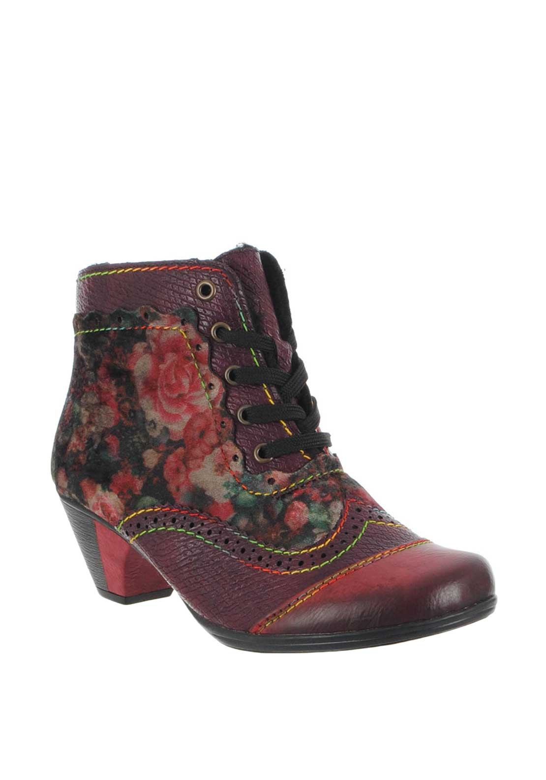 big sale 77396 299a5 Rieker Womens Velvet Floral Boots, Purple