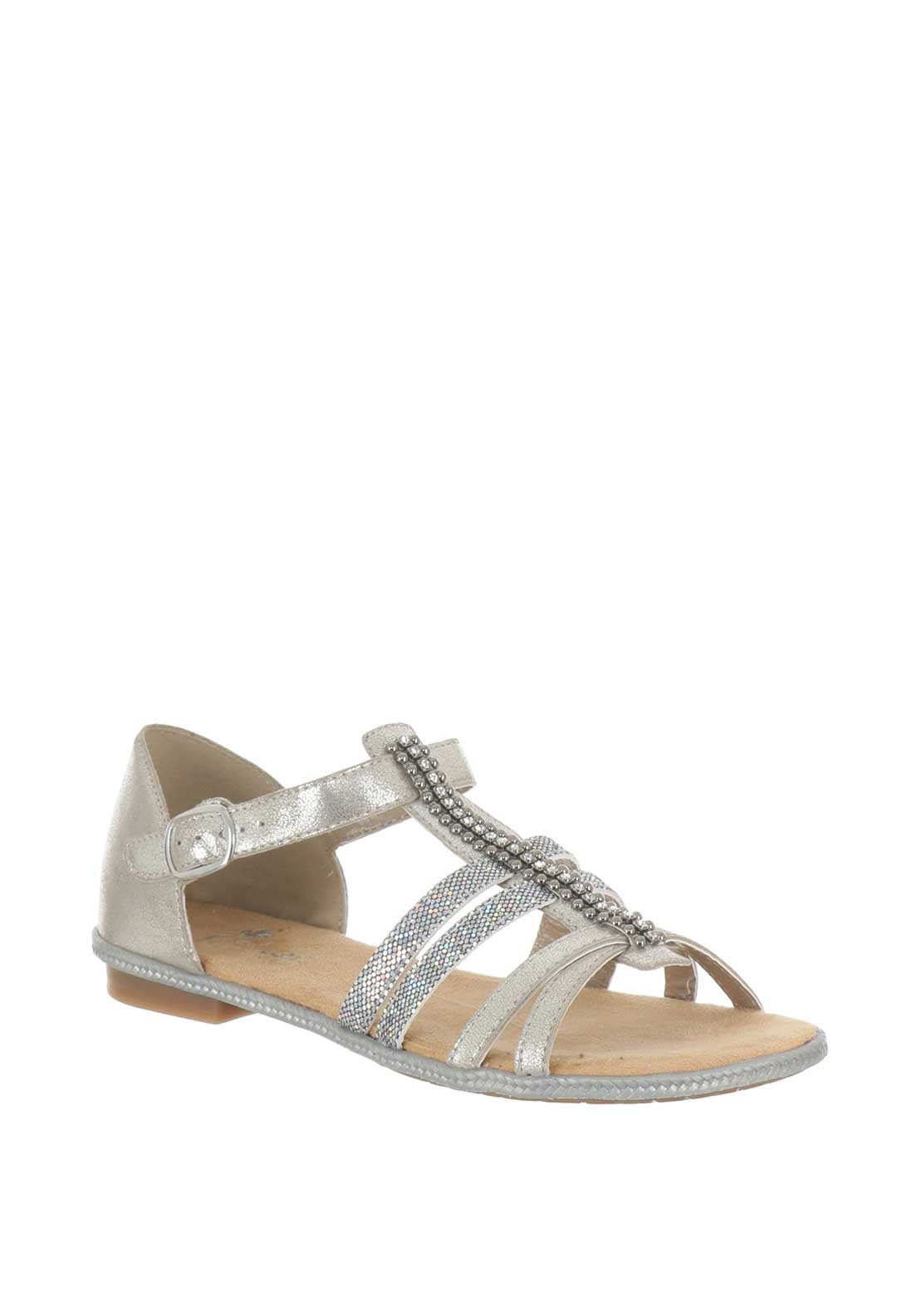 87f7e4bfbdac Rieker Womens Metallic Strappy Sandals