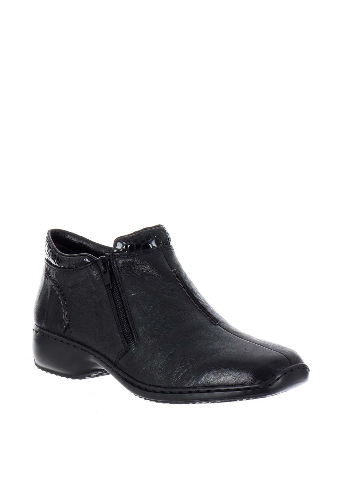 Rieker Womens Leather Patent Cuff Ankle