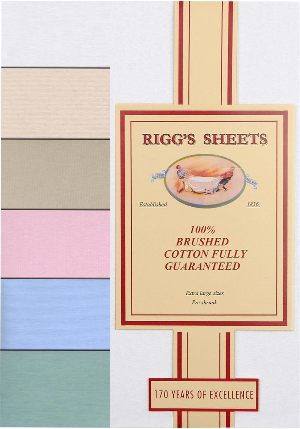 Riggs Flannelette Fitted Bed Sheet, Stone