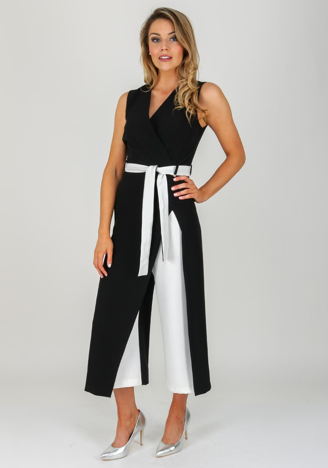 02c02a8d Rinascimento Wrap Front Culotte Jumpsuit, Black. Be the first to review  this product