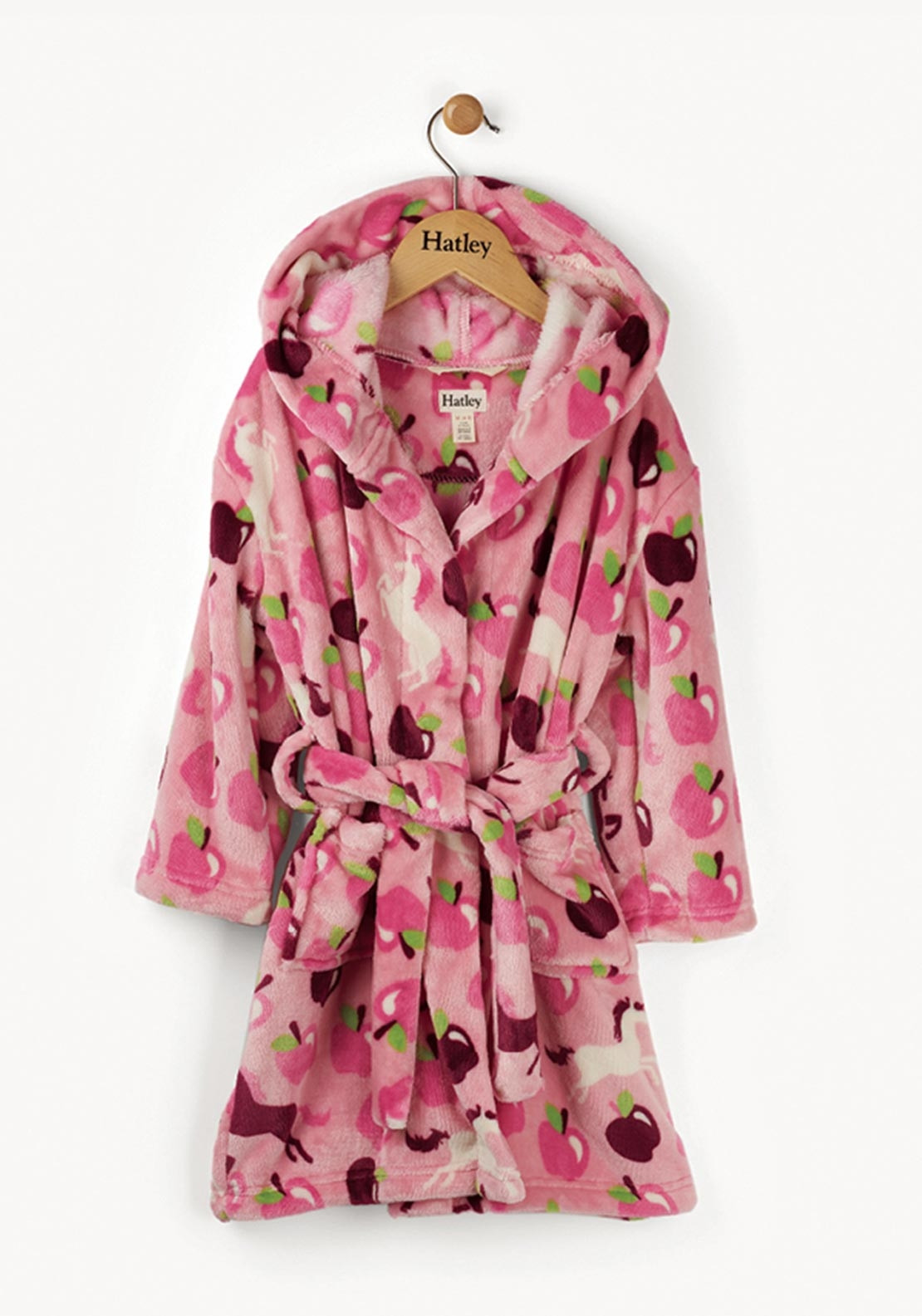 Hatley Girls Orchard Hoses Dressing Gown, Pink | McElhinneys