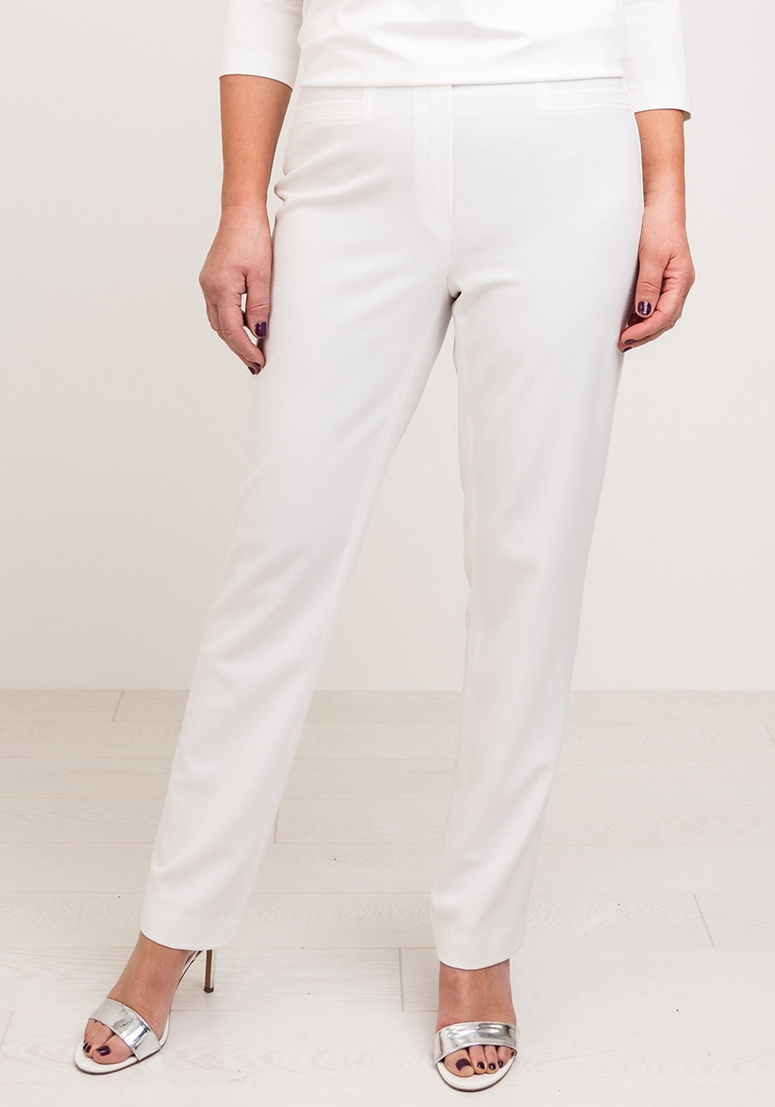 Robell Jacklyn Slim Fit Trousers, Ivory