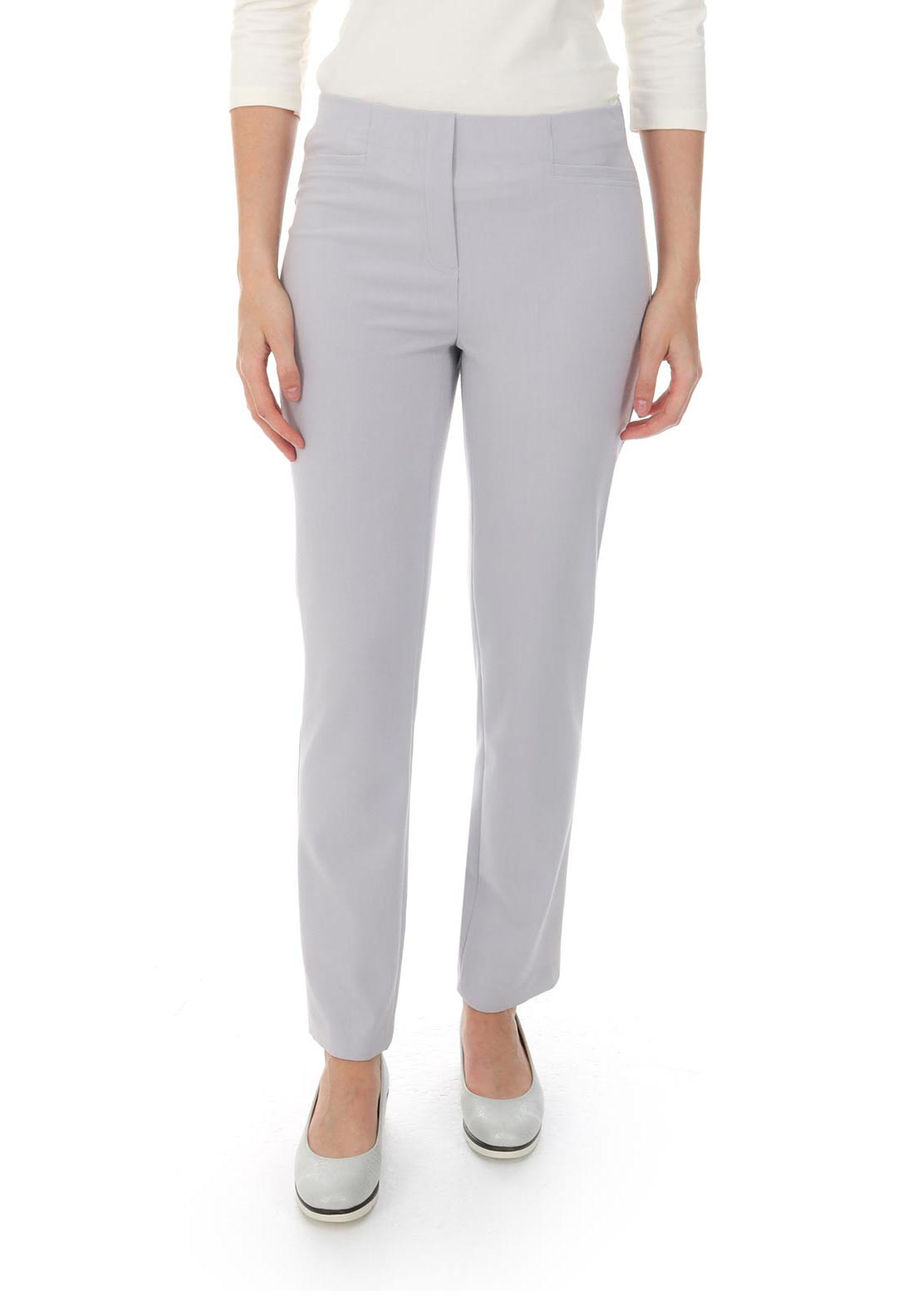 Robell Jacklyn Slim Fit Trousers, Pale Grey