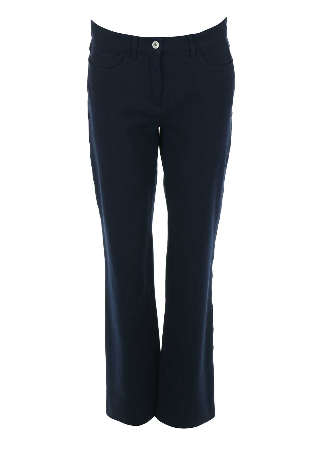 Robell Chris Feminine Fit Straight Leg Jeans, Navy