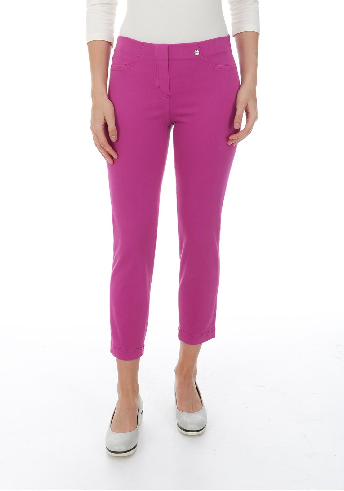 Robell Bella 09 Cropped Jeggings, Deep Pink