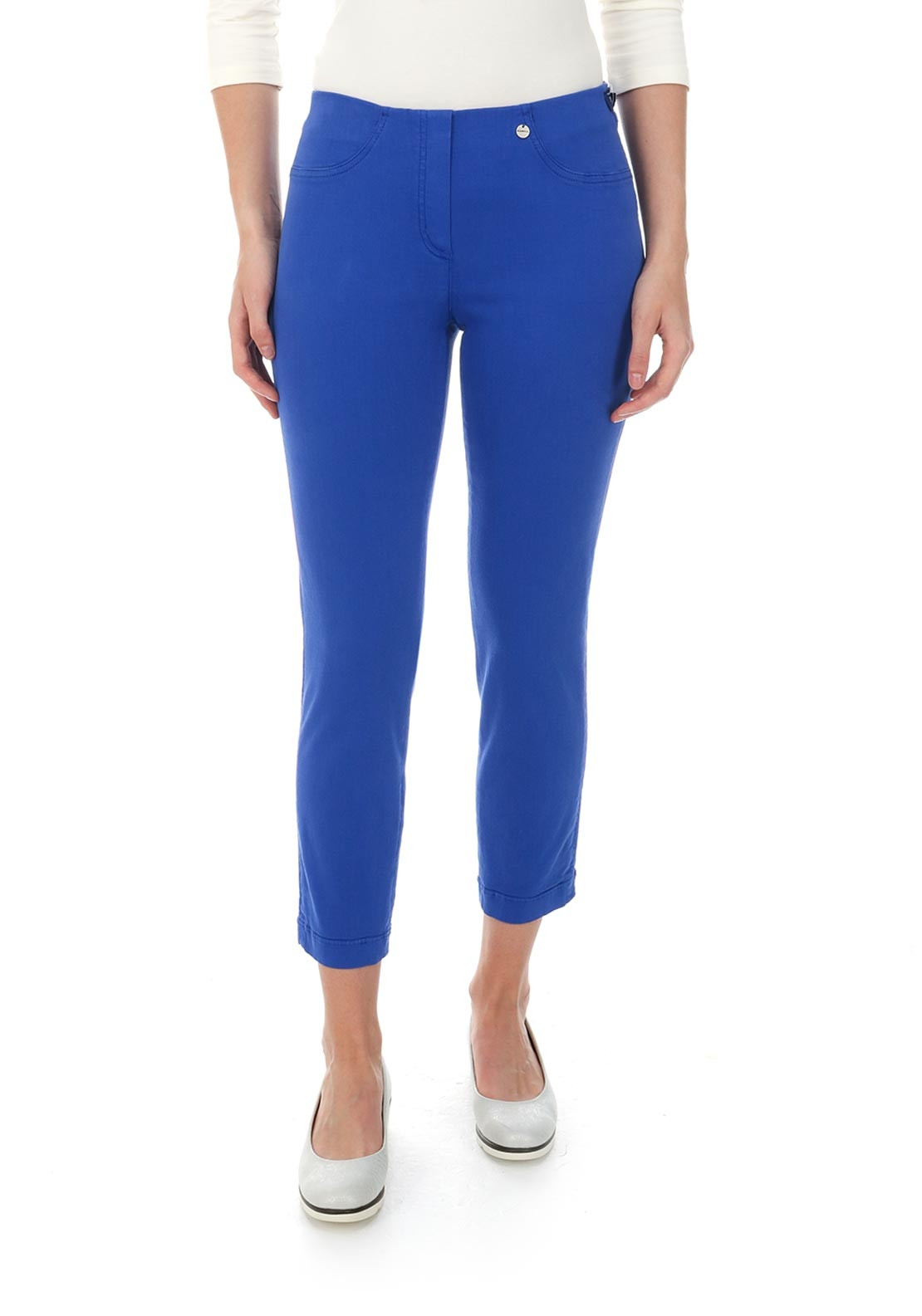 Robell Bella 09 Cropped Jeggings, Indigo