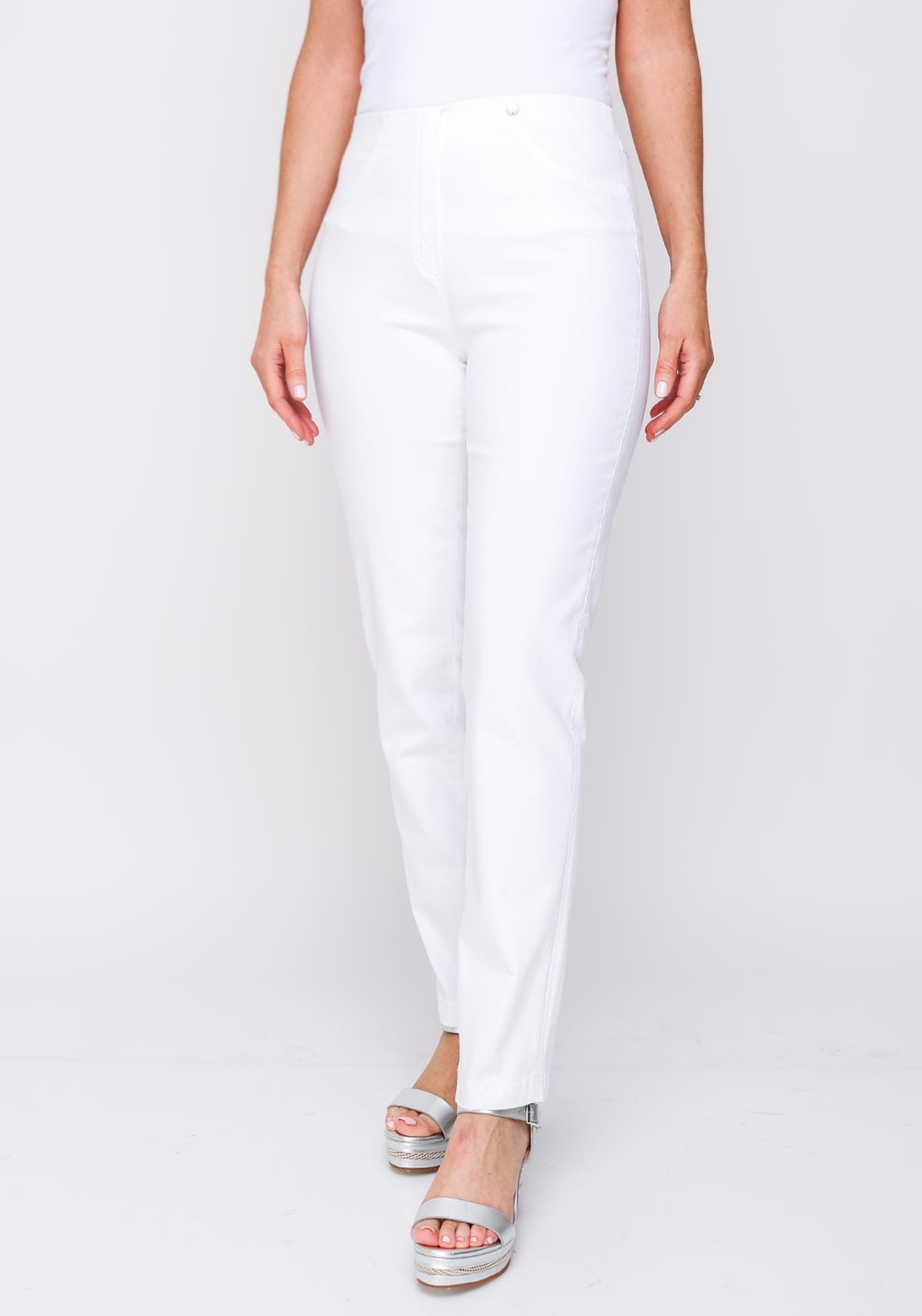 955910b3b4d Robell Bella Stretch Denim Jeans, White. Be the first to review this product
