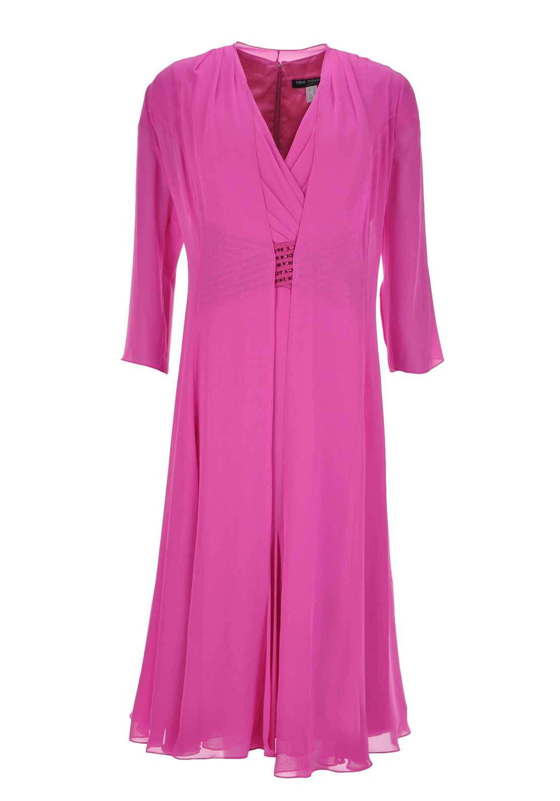 Veni Infantino for Ronald Joyce Chiffon Dress & Coat, Pink
