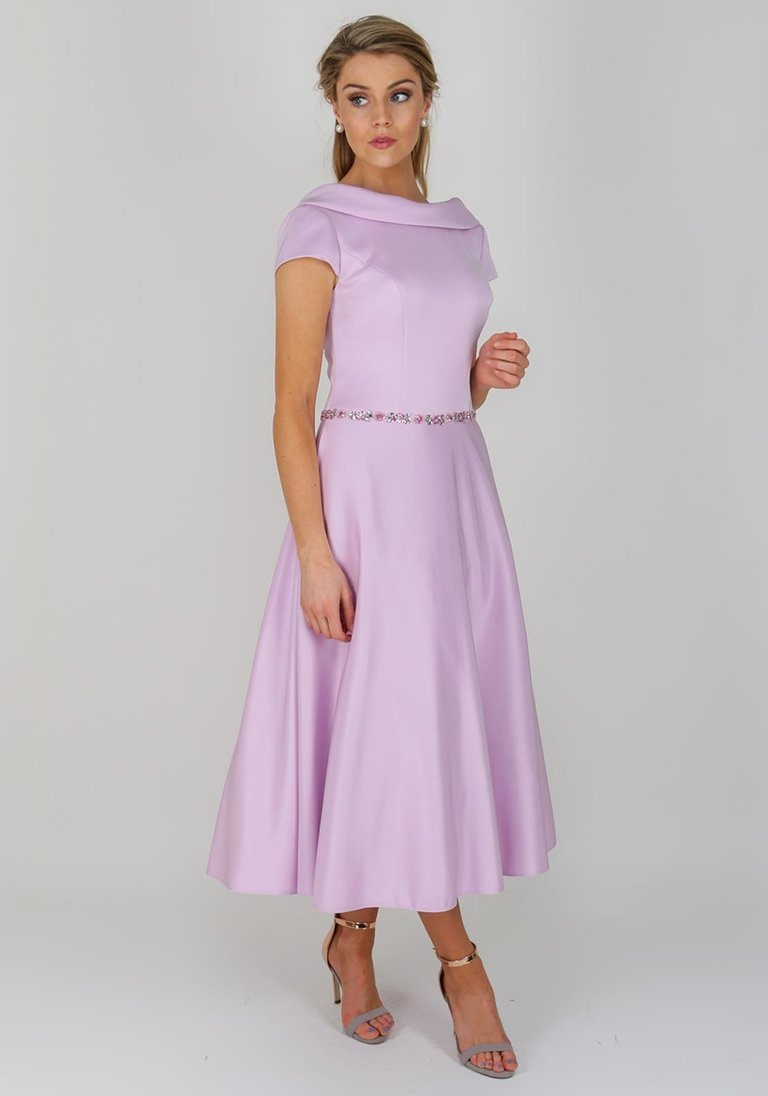 shoes for cheap release date sale uk Ronald Joyce Occasions Flared Midi Dress, Lilac   McElhinneys