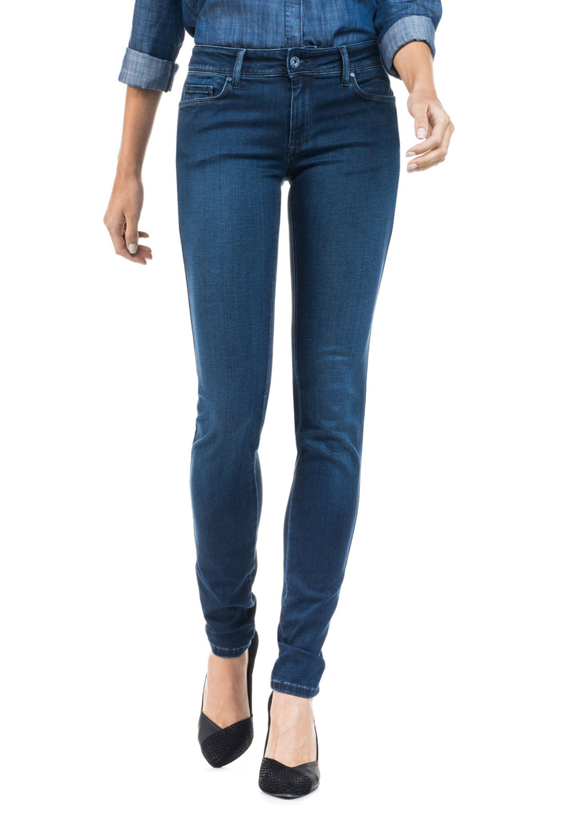 Salsa Push Up Wonder Skinny Jeans, Blue