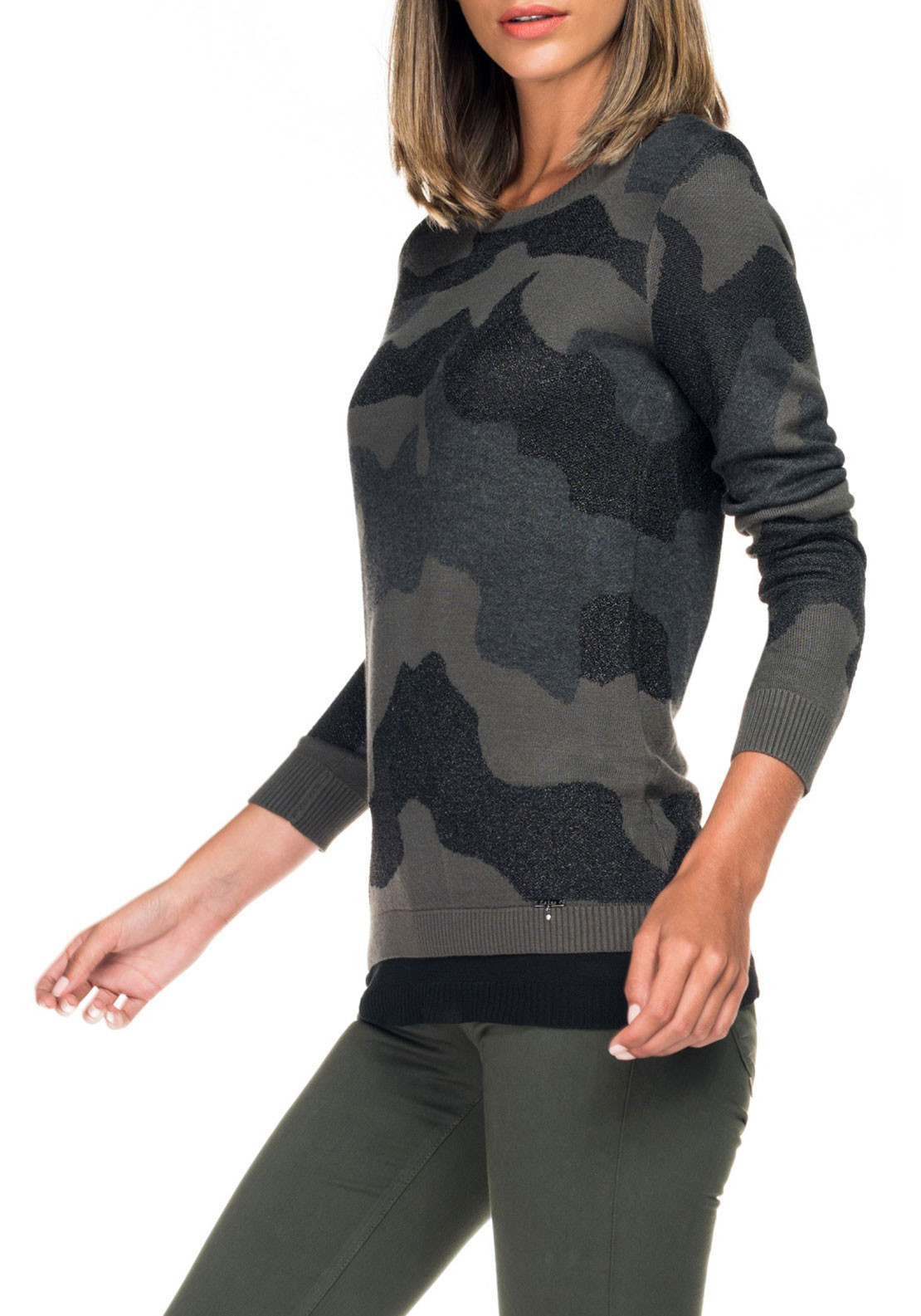 Salsa Camouflage Knit Jumper, Green