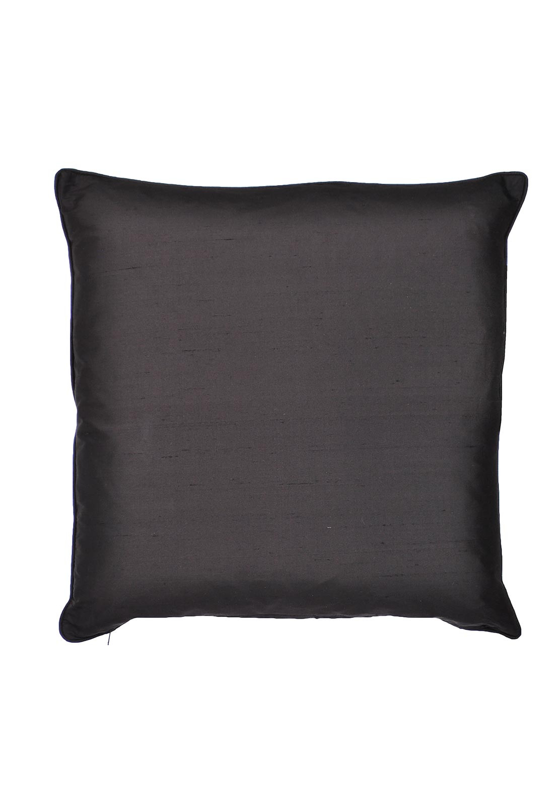 Scatterbox Silk Piped Square Cushion, Black