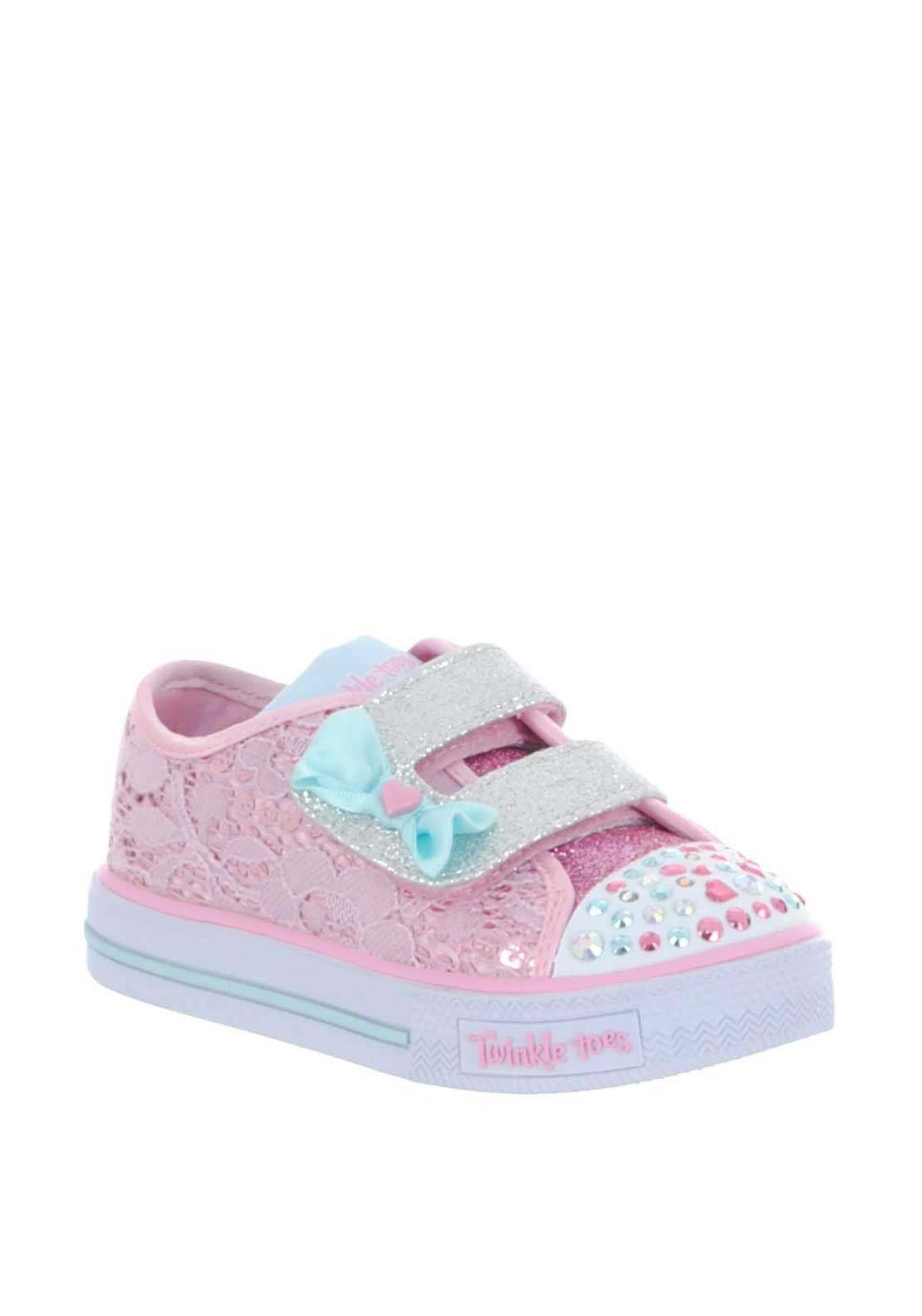 3a8cf4998f78 Skechers Baby Girls Twinkle Toes Trainers