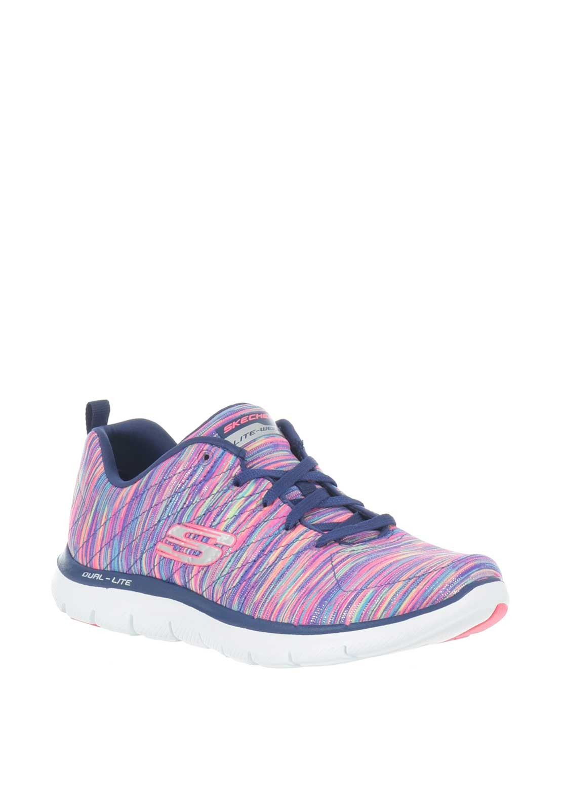 Skechers Womens Lite Weight Trainers, Multi Coloured