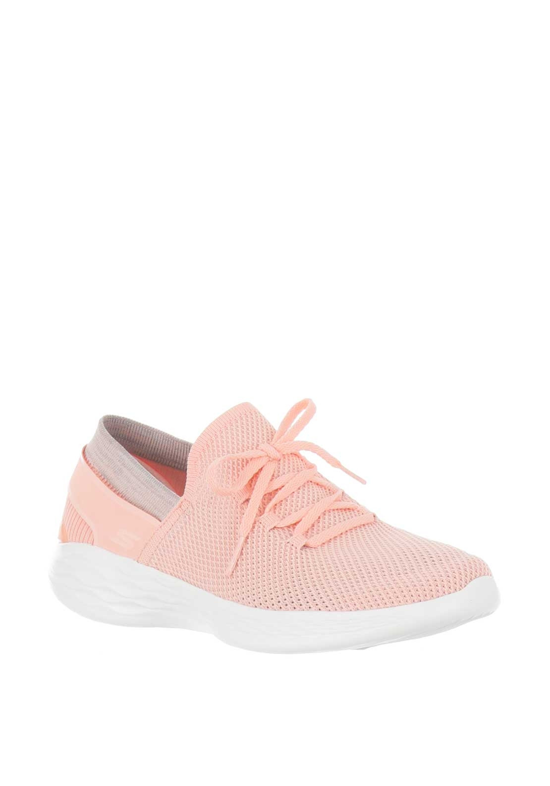 Skechers Womens You Spirit Knit Trainers, Peach