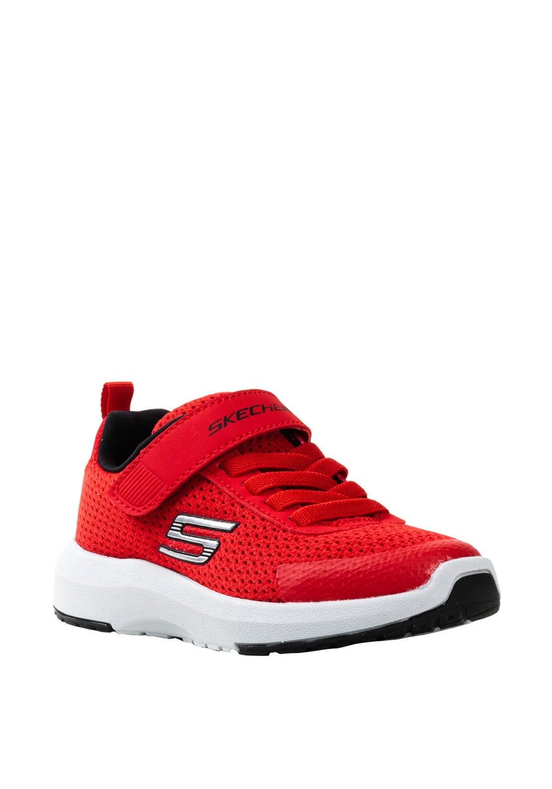 check out 92ddd 5c192 Skechers Boys Knit Velcro Strap Trainers, Red