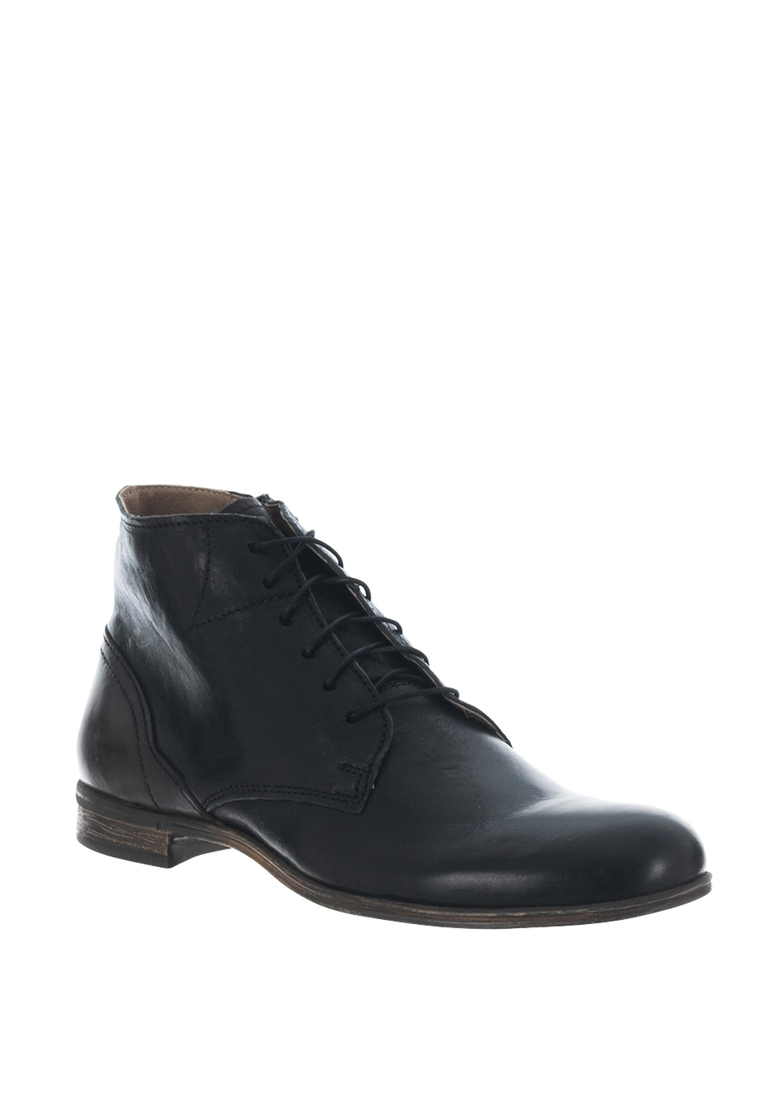 Sneaky Steve Dirty Mid Leather Boot, Black