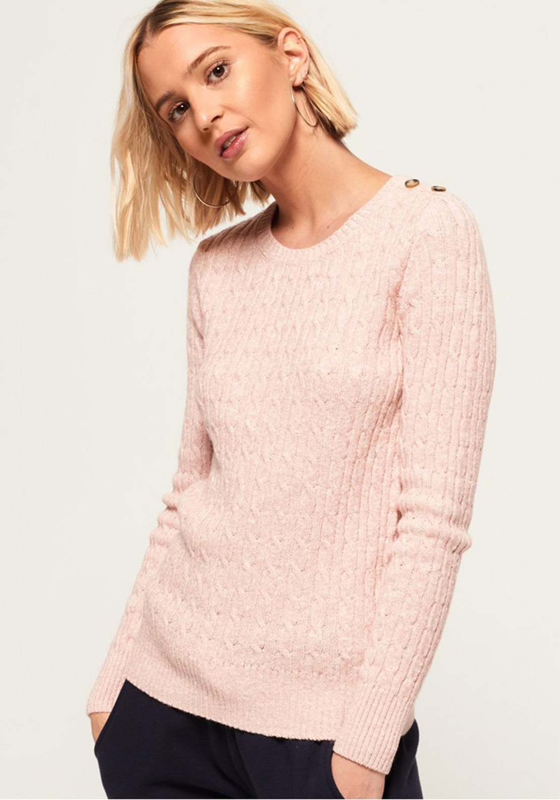 Superdry Womens Croyde Bay Cable Knit Jumper d344f24bc