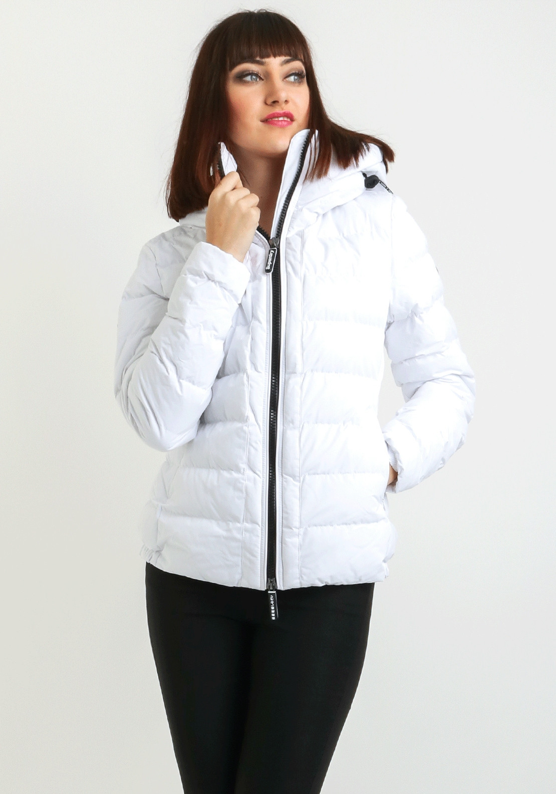 5c56ee19f6250d Superdry Womens SDX Arctic Hood Jacket, Optic White | McElhinneys