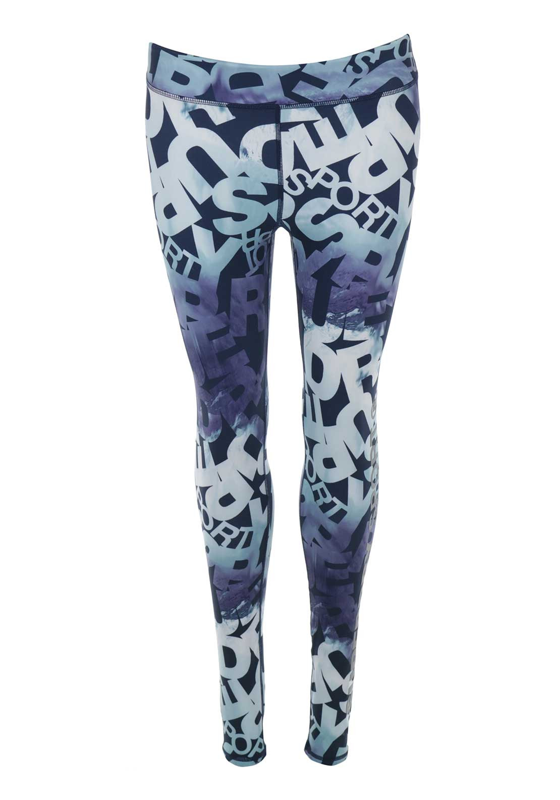 Superdry Womens Core Gym Leggings, Blue