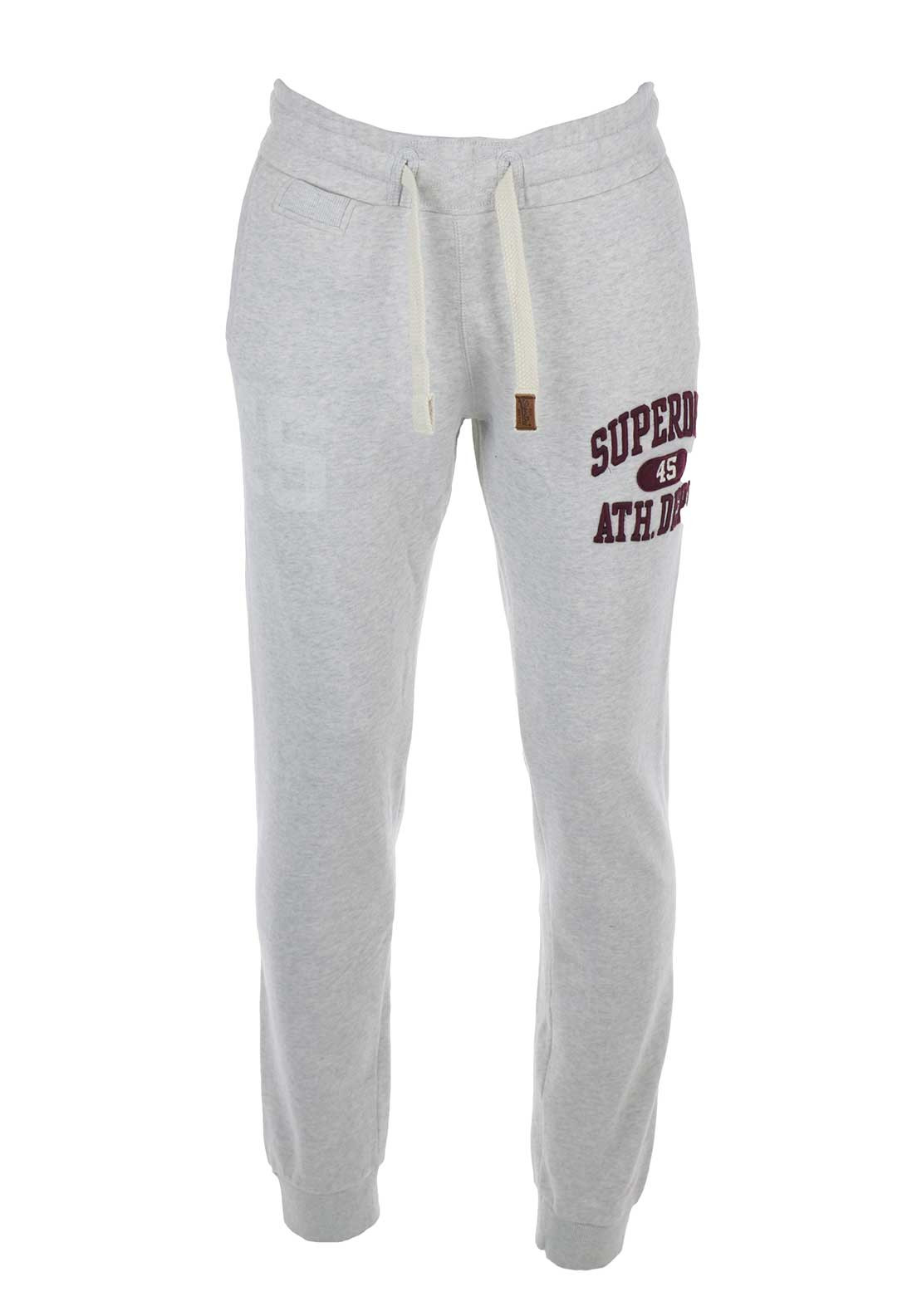 Superdry Mens Core Applique Tracksuit Bottoms, Grey