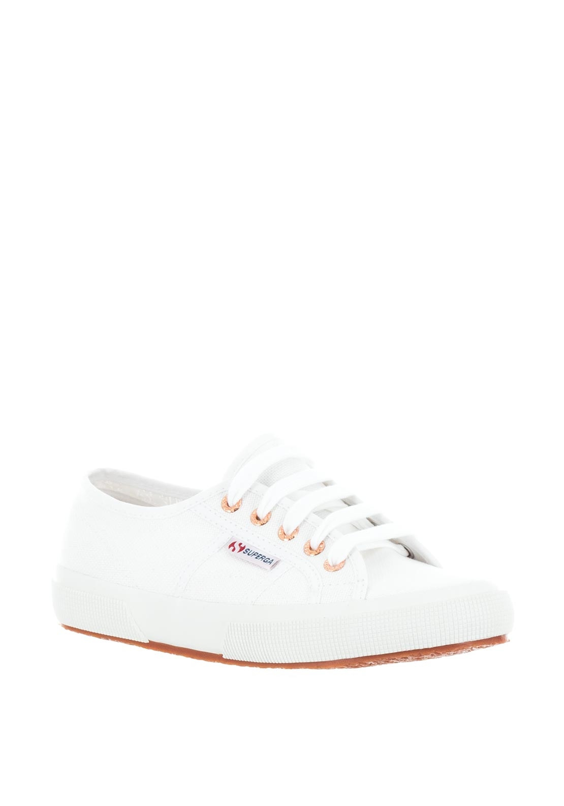 mode nya lägre priser heta produkter Superga Cotu Classic Canvas Trainers, White and Rose Gold ...