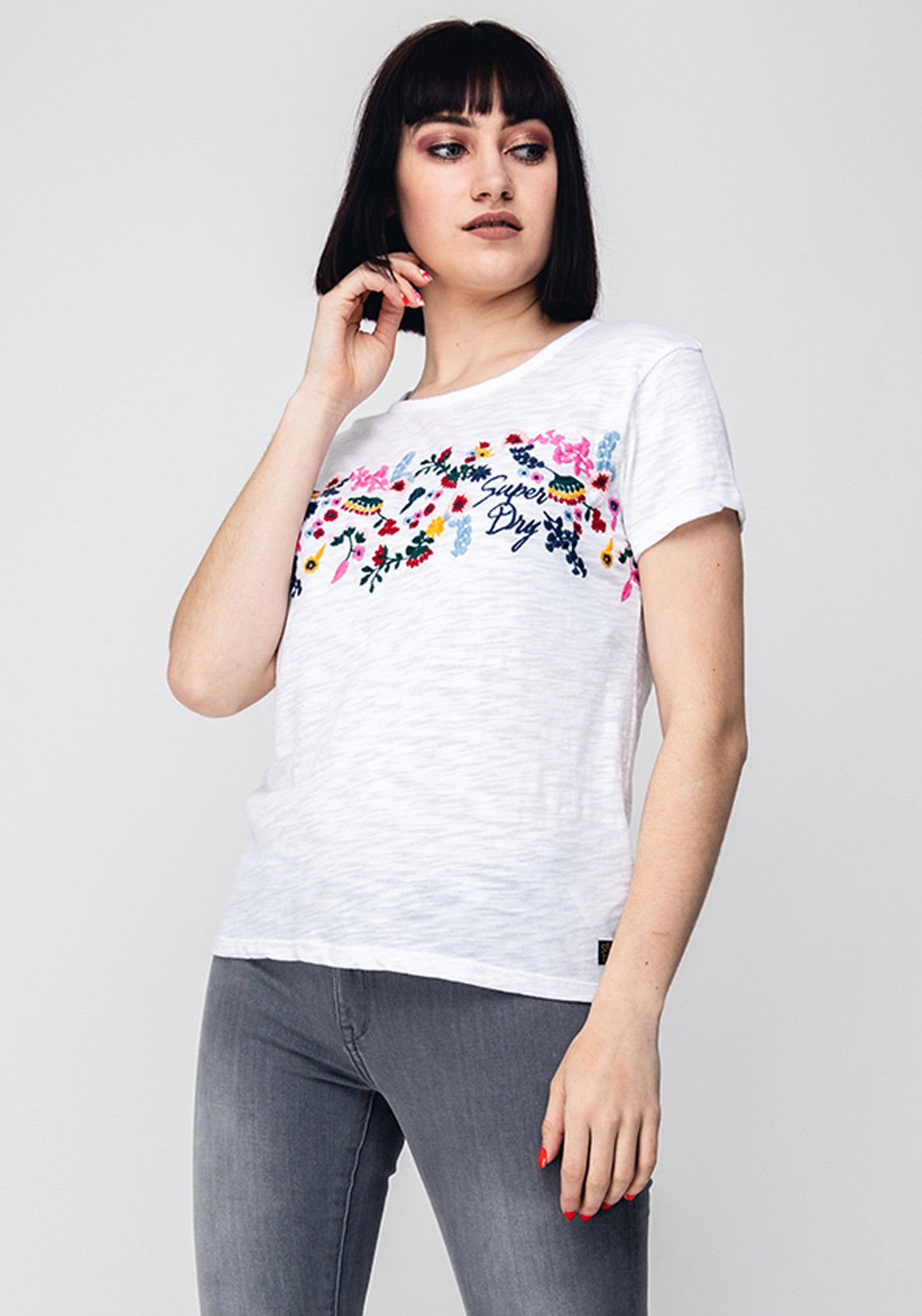 7acde12e Superdry Womens Lexi Embroidered T-Shirt, White. Be the first to review  this product