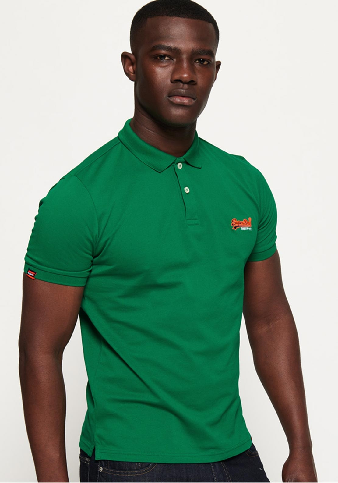 ed7bf6222eca Superdry Men's Mercerised Lite City Polo, Green. Be the first to review  this product