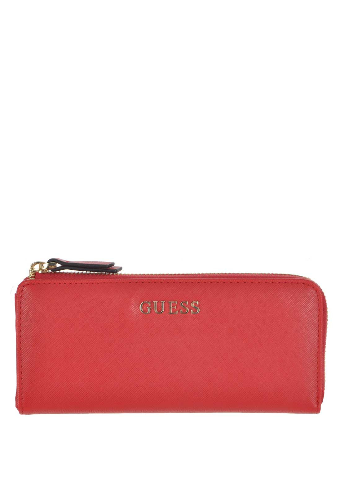 Guess Sissi Large Zip Around Wallet, Red