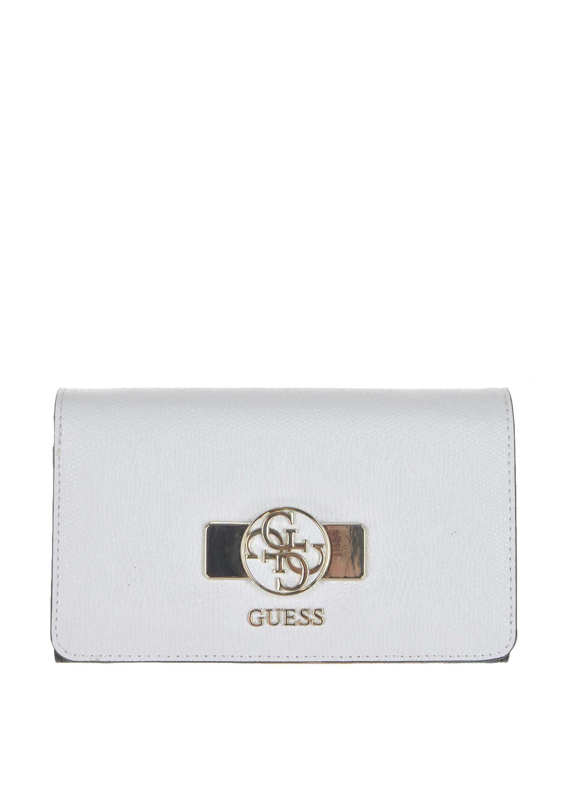 Guess Cynthia Flap Wallet, White