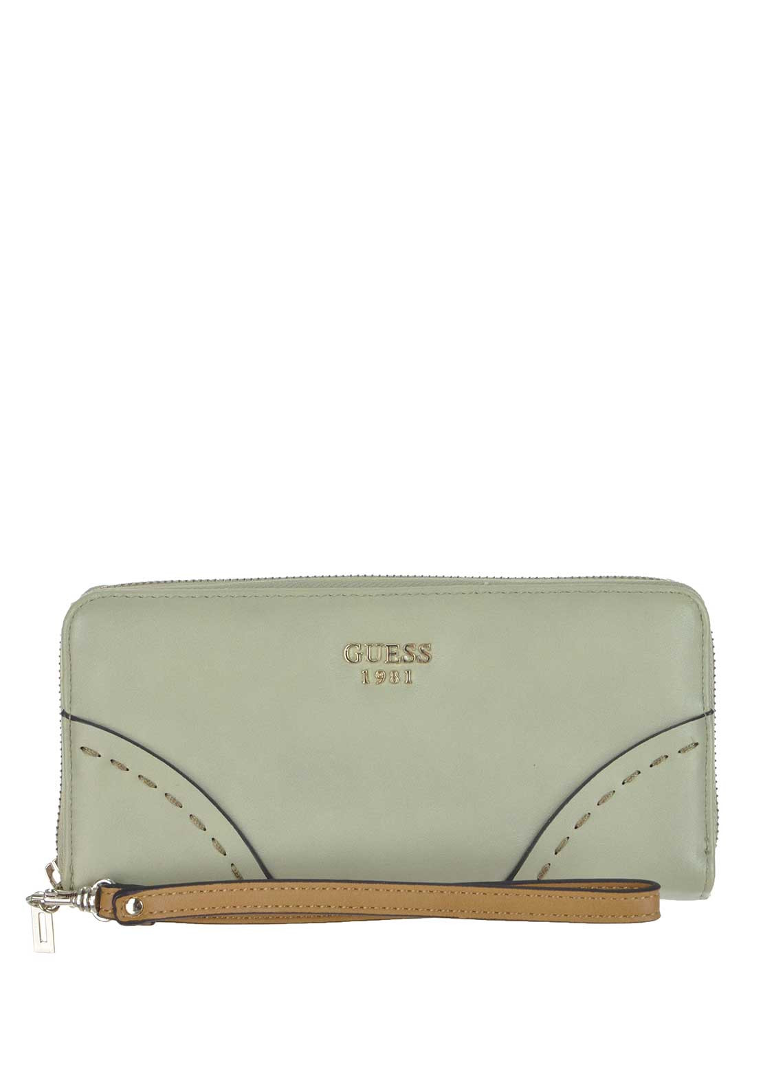 Guess Juliana Large Wallet, Sage Green and White