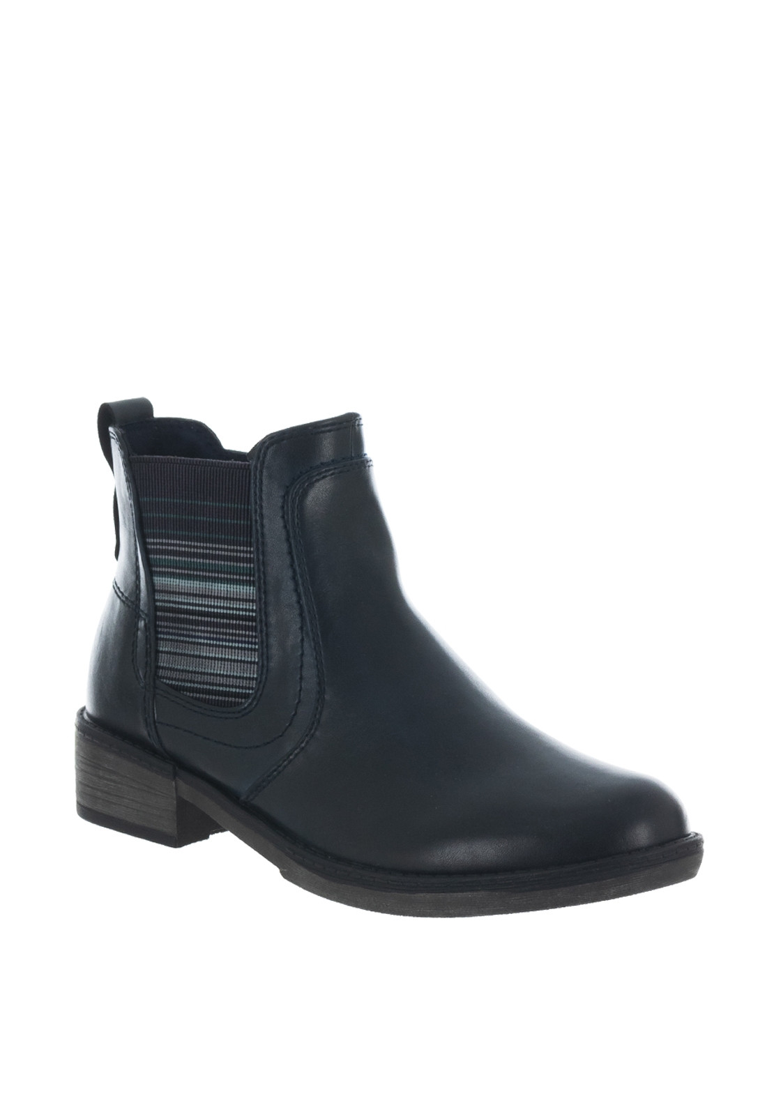 buy popular b17ef d7fcf Tamaris Striped Gusset Chelsea Boots, Navy