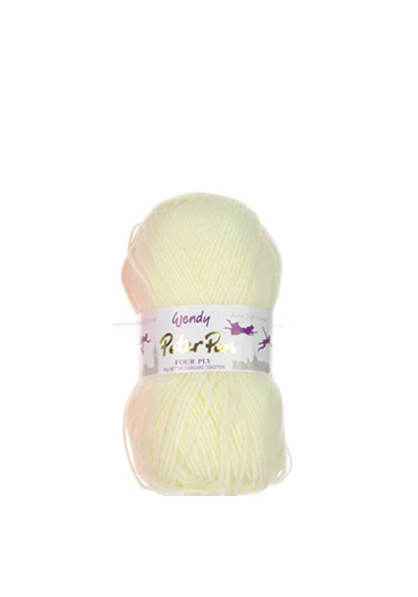 Wendy Peter Pan Four Ply Wool, 303 Pale Lemon