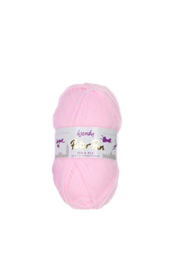 Wendy Peter Pan Four Ply Wool, 305 Pale Pink