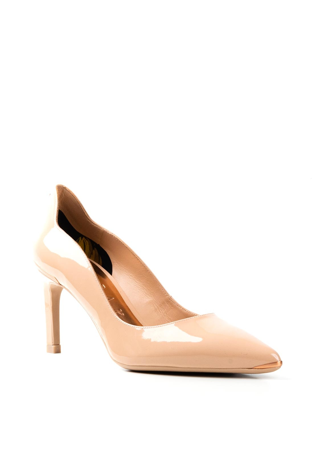 Ted Baker Patent Mid Heel Court Shoes