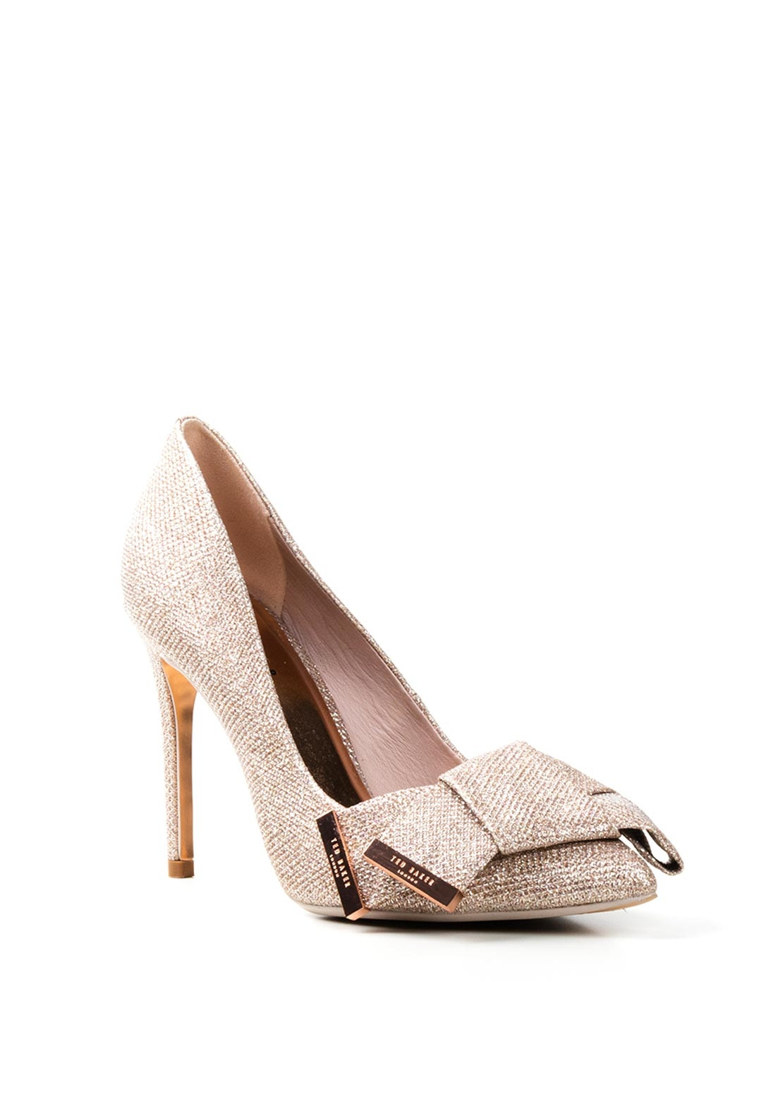 Ted Baker Lurex Bow Detail Court Shoes