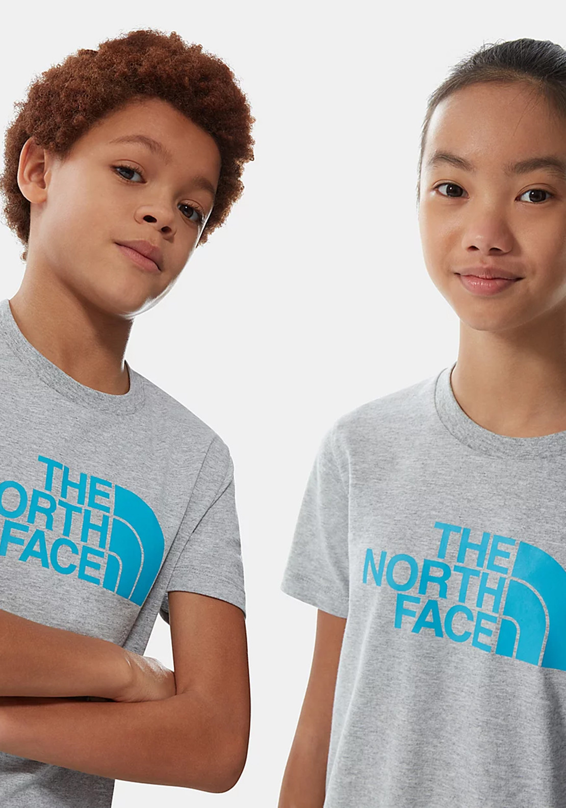 The North Face Kids Easy Logo T-Shirt, Grey