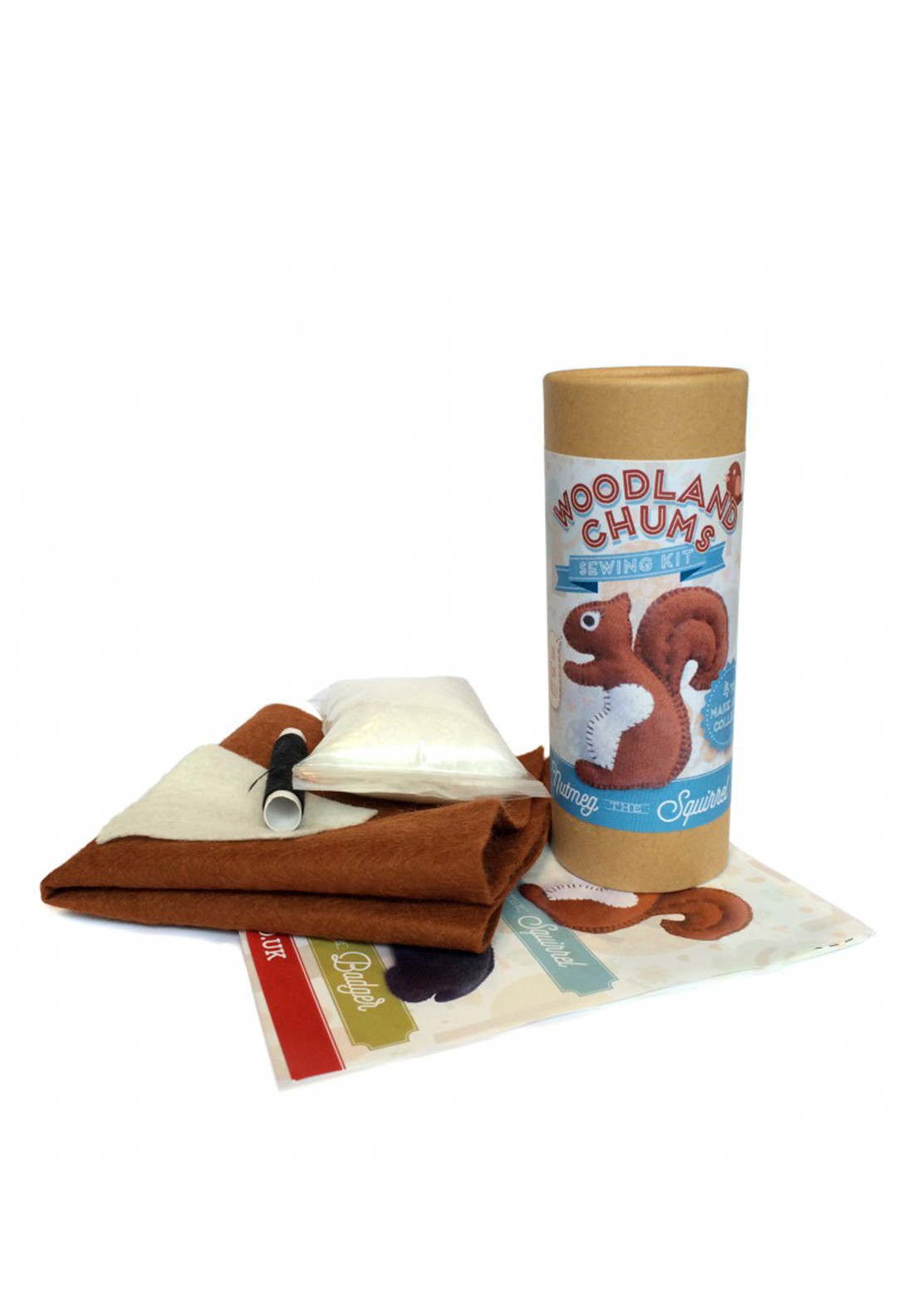 The Crafty Kit Co. Nutmeg the Squirrel Sewing Kit