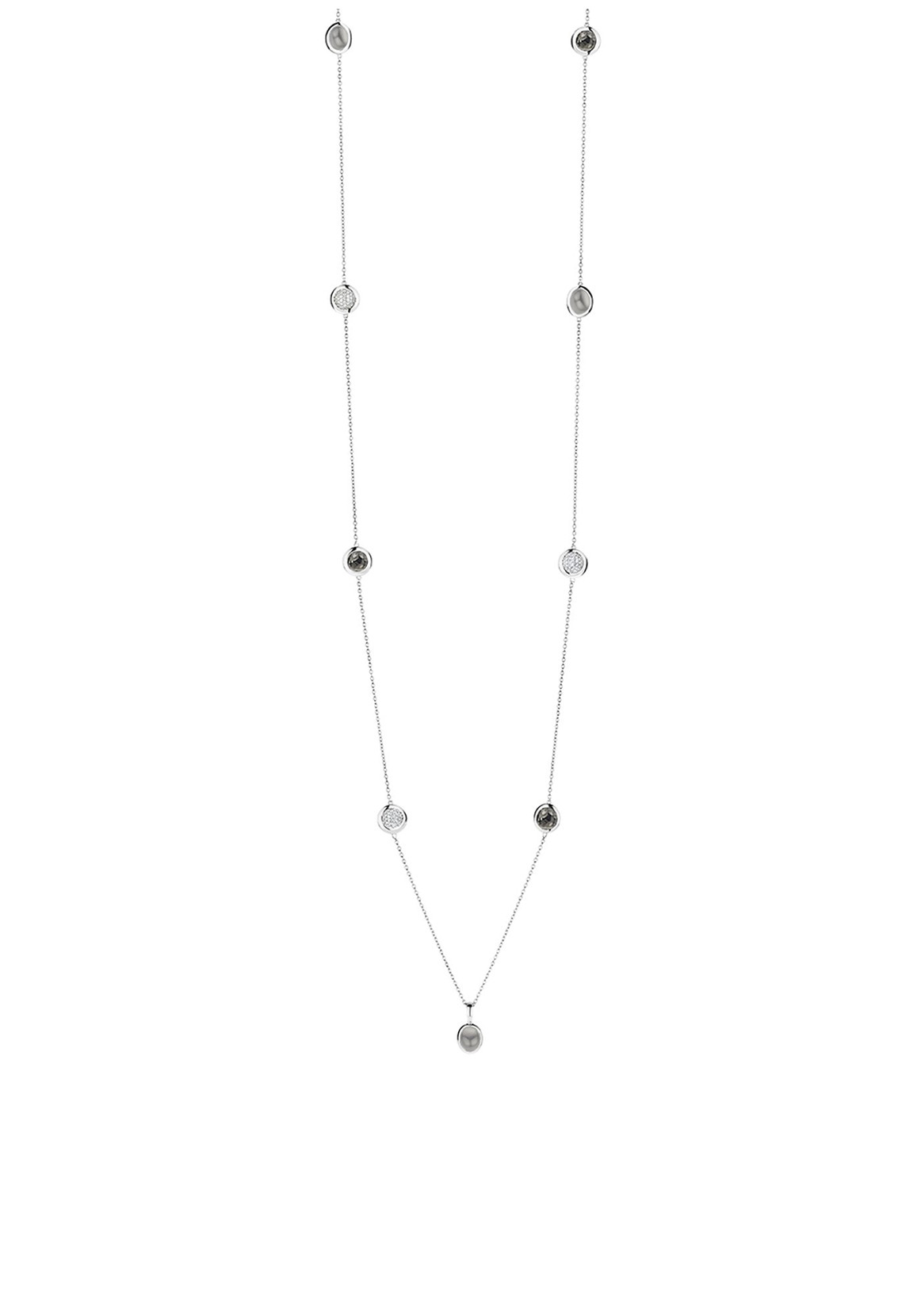 Ti Sento Milano Necklace Black and Silver