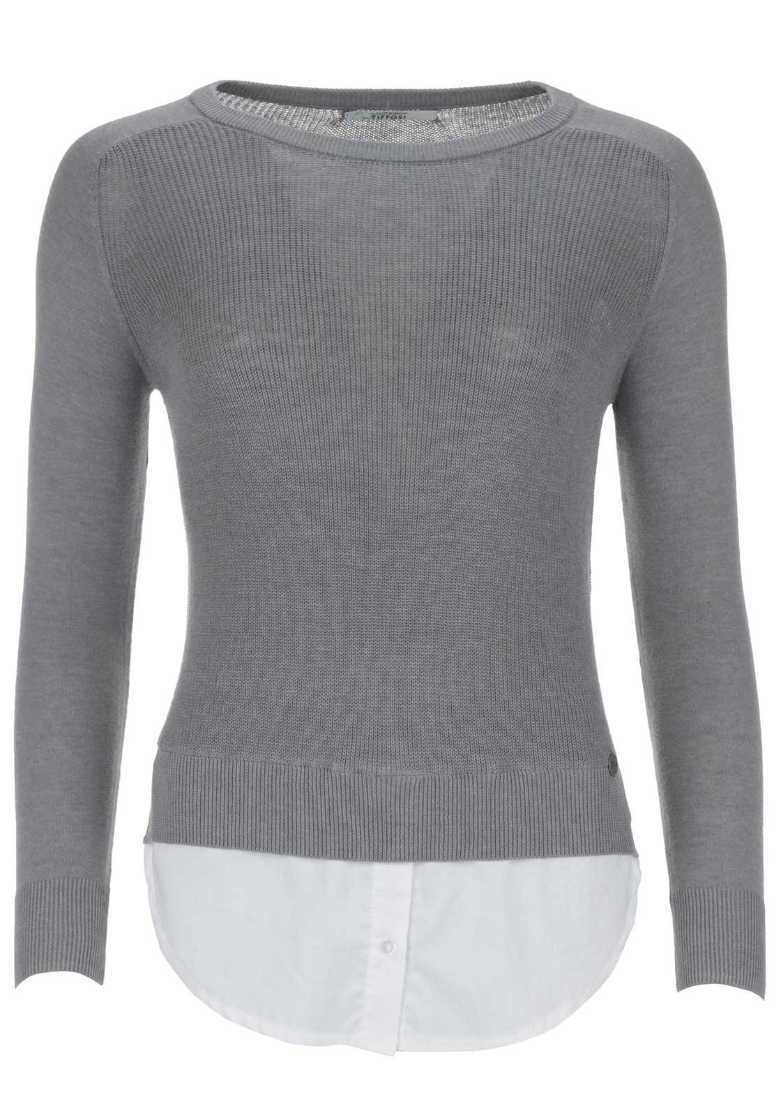 Tiffosi Womens Christie Knit Top, Grey