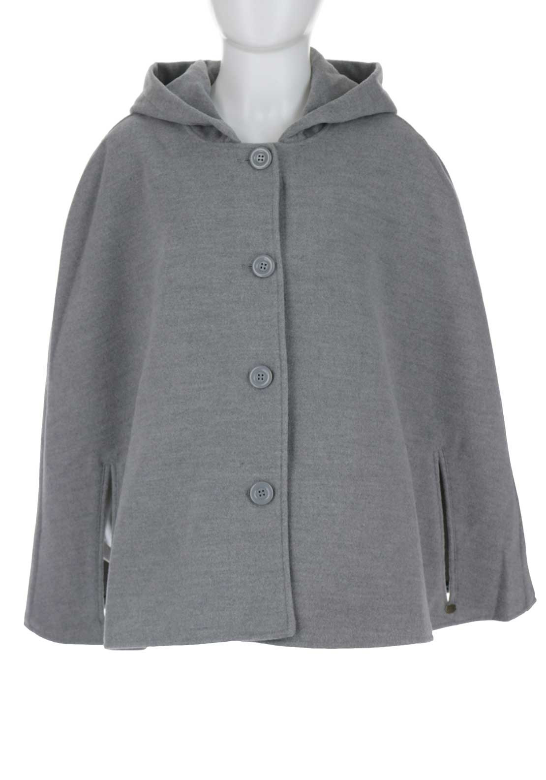Tiffosi Girls Mayra Hooded Cape, Grey