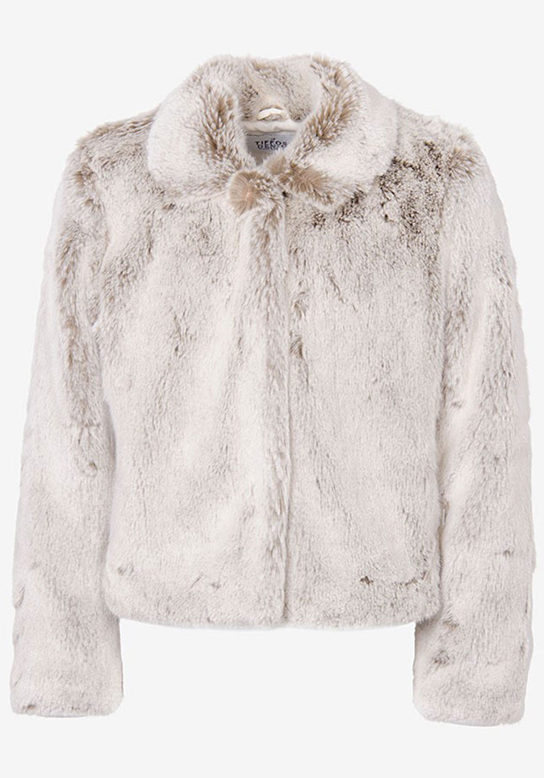 Tiffosi Girls Marisa Faux Fur Jacket, Grey