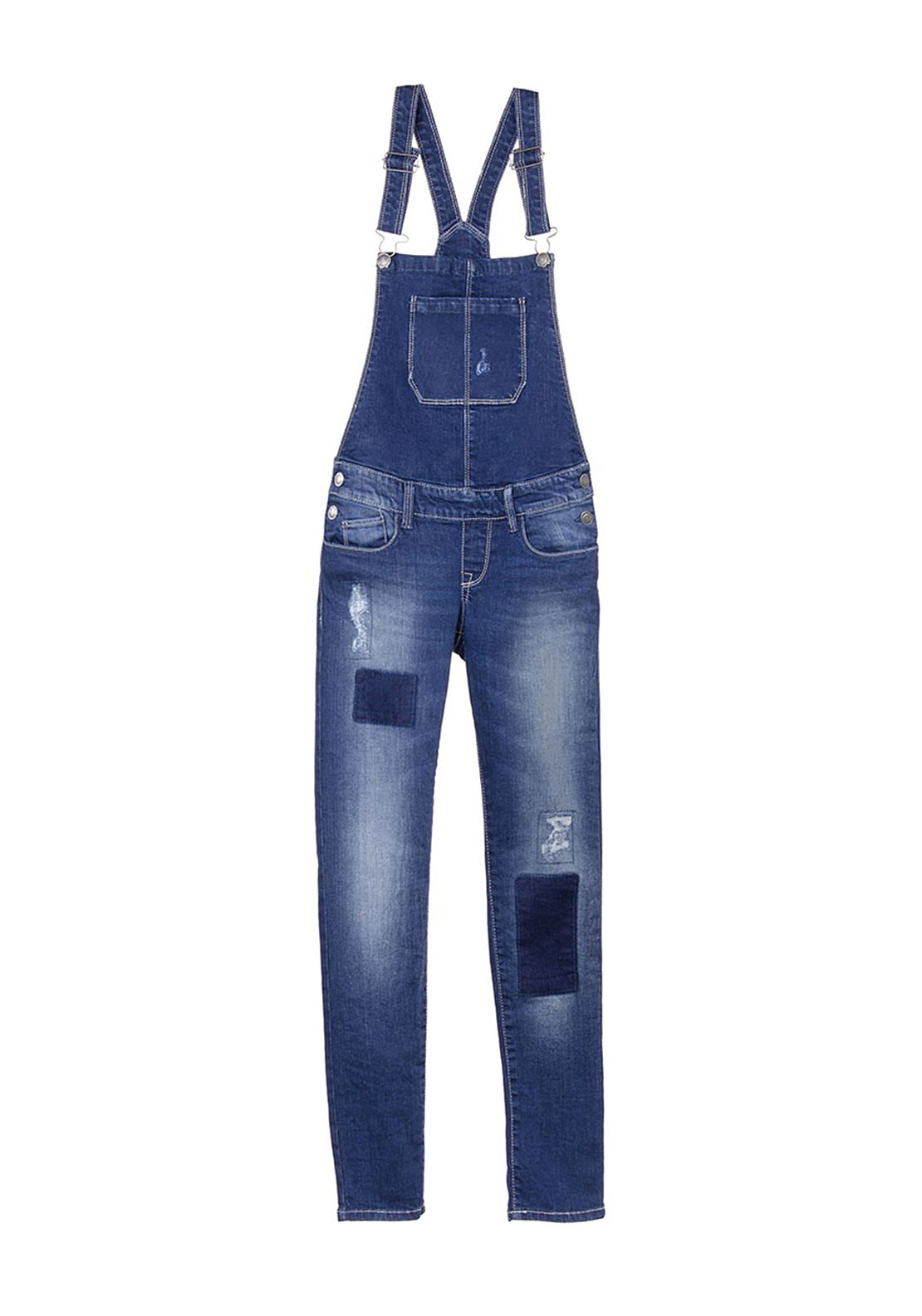 Tiffosi Girls Izzy Dungarees, Blue Denim