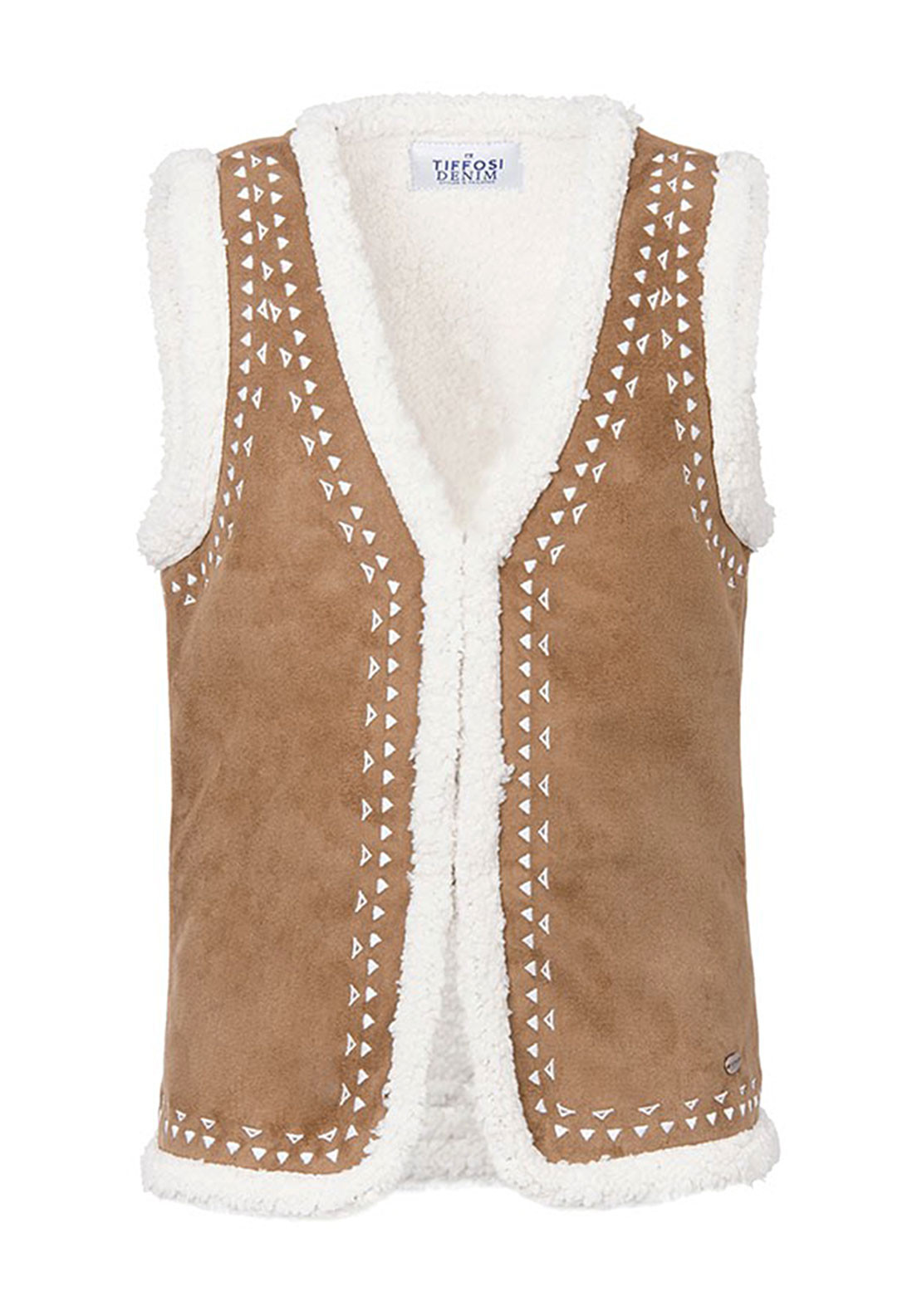 Tiffosi Girls Bennete Faux Suede Gilet, Tan